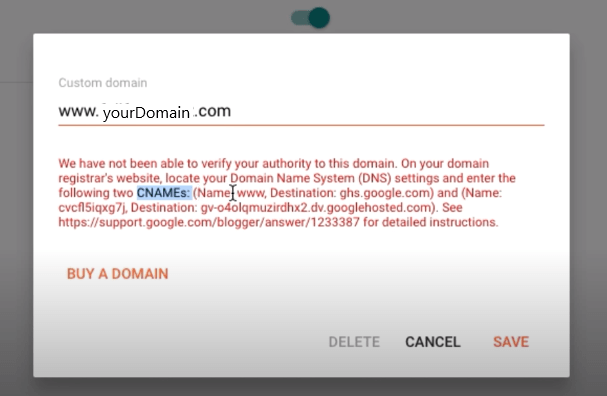 Add custom domain in new blogger interface